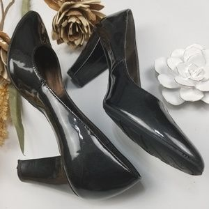 Etienne Aigner Shoes - Etienne Aigner - Charcoal 3 in Chunky Heel 9m pump